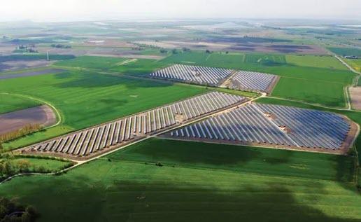 Hyundai solar power panel large commercial installation