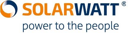 Solarwatt solar power panel made in Germany Logo